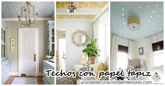 Decoración de techos con papel tapiz ¡Se mira hermoso! | Decoracion ...