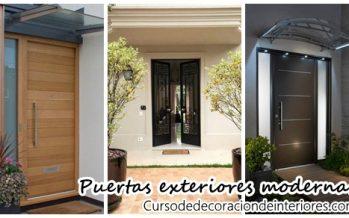diseos para puertas modernas de exterior