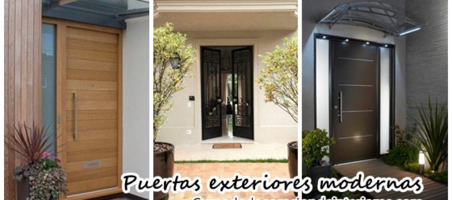 Dise os para puertas modernas de exterior decoracion de for Puertas principales modernas 2016