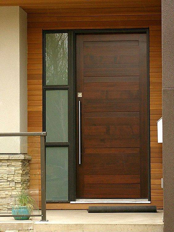 Disenos para puertas modernas de exterior 6 decoracion for Disenos puertas de madera exterior
