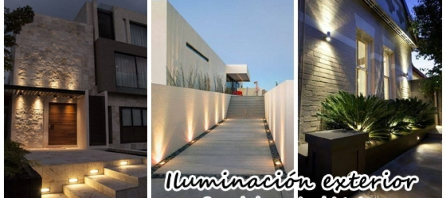 Geniales propuestas de iluminacion exterior de casas - Iluminacion de exterior ...
