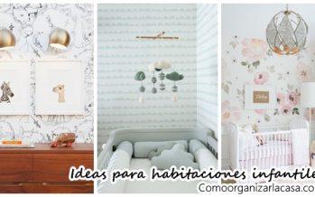 Decoración de habitaciones infantiles con papel tapiz