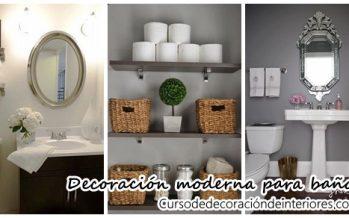 Hermosas ideas para decorar tu baño moderno y elegante