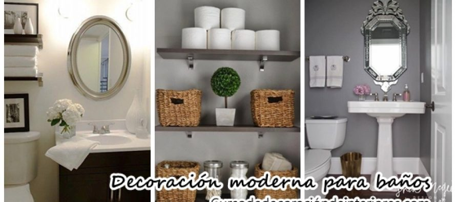 Hermosas ideas para decorar tu ba o moderno y elegante - Ideas para decorar un bano ...