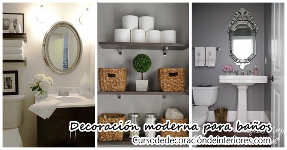 Hermosas ideas para decorar tu ba o moderno y elegante for Ideas para un bano moderno