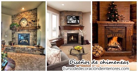 Hermosos diseños de chimeneas | Curso de Decoracion de interiores ...