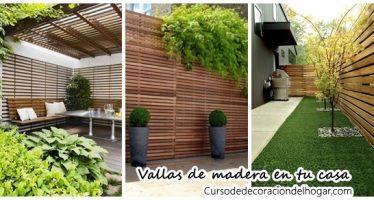Ideas para poner vallas de madera en tu casa