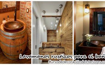 Lavamanos rusticos para decorar tu hogar