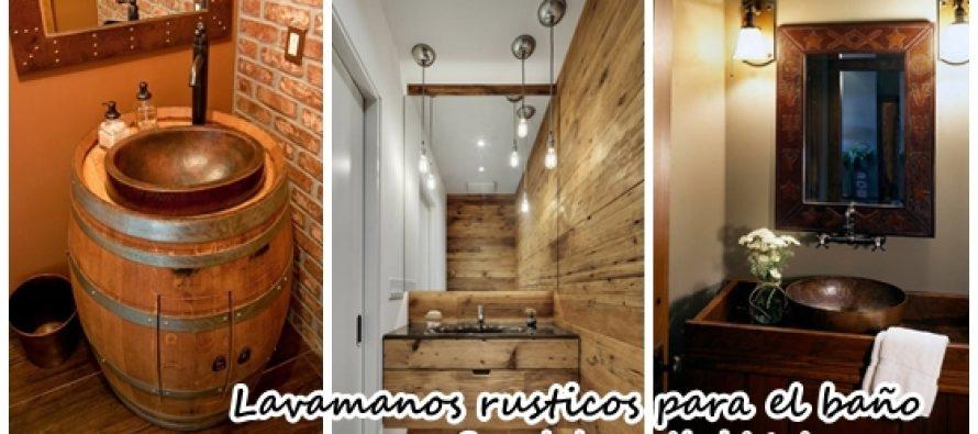 Lavamanos rusticos para decorar tu hogar decoracion de for Lavamanos rusticos de madera