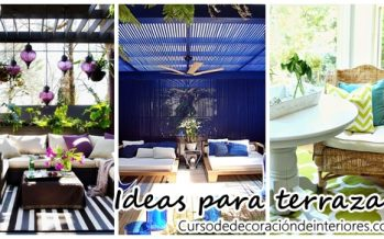 Paletas de colores para decorar terrazas