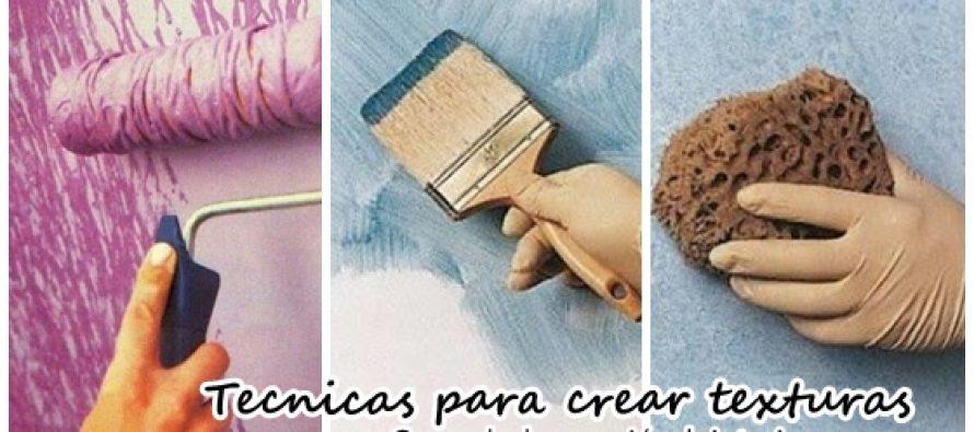 Técnicas para crear texturas cuando estas pintando tu casa