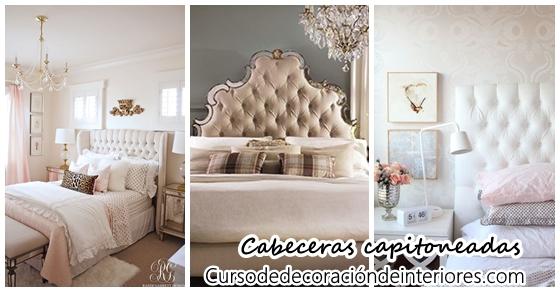 Cabeceras para cama estilo capitoneadas Decoracion de interiores