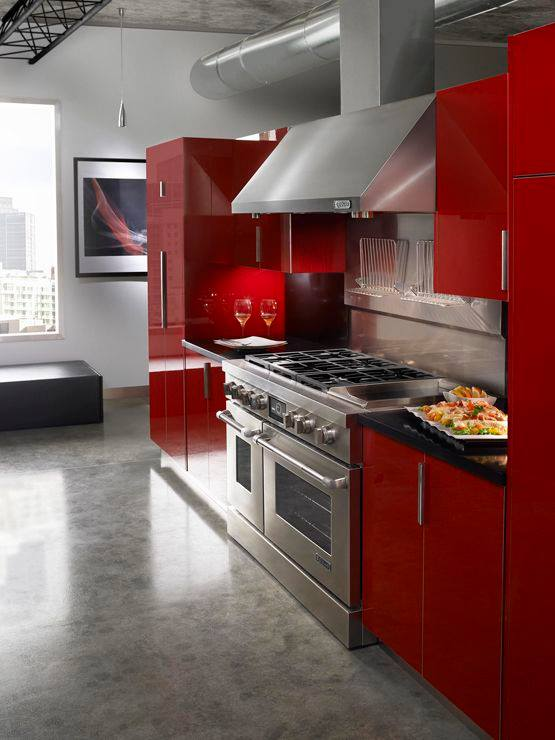 Cocinas en color rojo 27 decoracion de interiores - Cocinas de color rojo ...