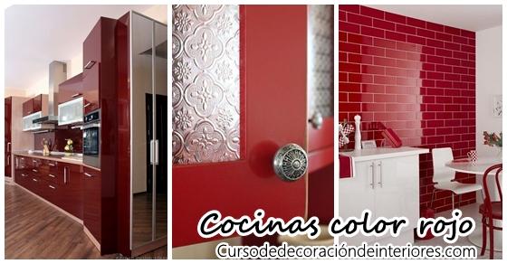 Cocinas En Color Rojo Curso De Decoracion De Interiores - Cocinas-color-rojo