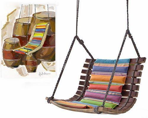 Columpios de madera para tu jardin 15 decoracion de interiores interiorismo decoraci n - Columpios para casa ...