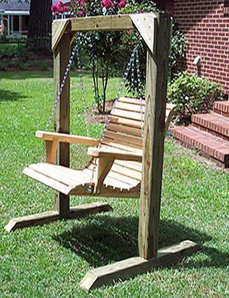 Columpios de madera para tu jardin 19 decoracion de - Columpios para jardin ...