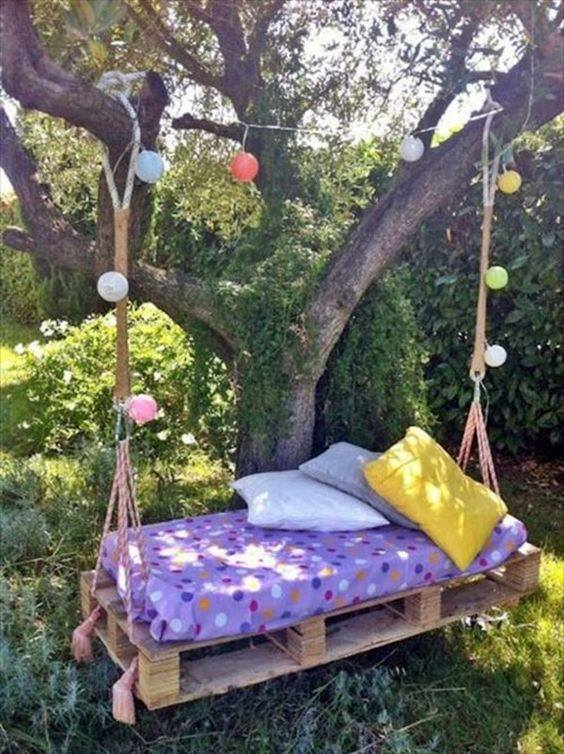 Columpios de madera para tu jardin 20 decoracion de for Adornos de jardin en madera