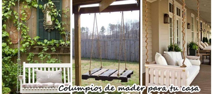 Columpios de madera para tu jardín