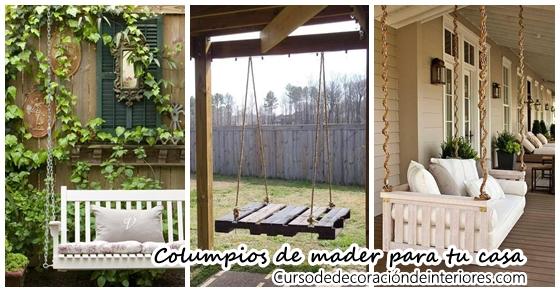 Columpios de madera para tu jard n curso de decoracion de interiores interiorismo - Columpios para casa ...