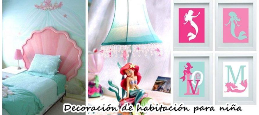 Decoración de habitación para niña de Ariel