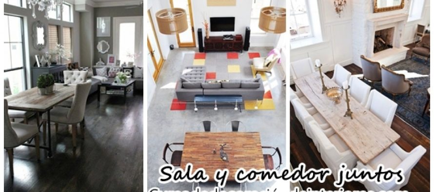 Decoraci n de sala y comedor juntos decoracion de for Comedores decoracion 2017