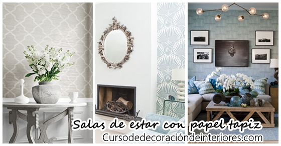 Decoraci n de salas de estar con papel tapiz decoracion for Decoracion alternativa interiores