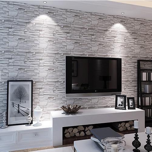 Decoración de salas de estar con papel tapiz (6) | Curso ...