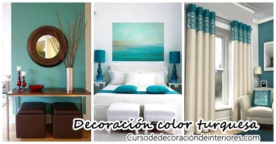 Decoraci n para tu hogar en tonos turquesa curso de - Decoracion en tonos turquesa ...