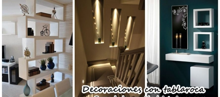 Decoraciones para tu casa que puedes hacer con tabla roca - Hacer decoracion para casa ...
