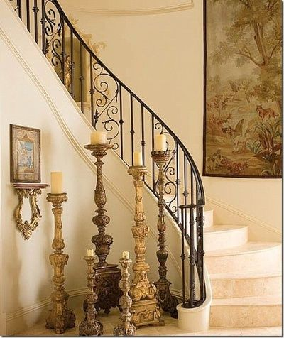 Diseños de escaleras interiores de herrería (21)   Decoracion de ...