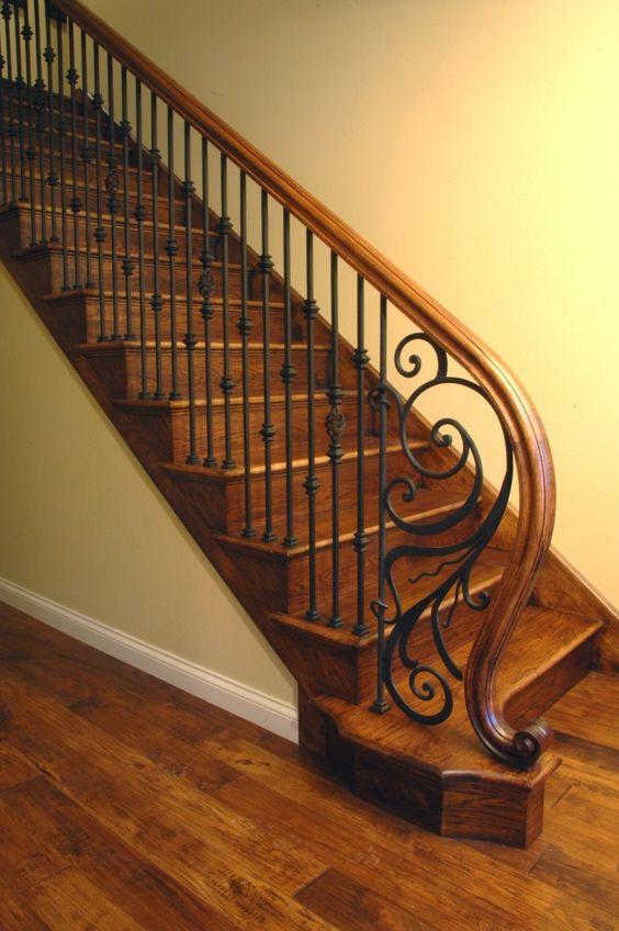 Disenos de escaleras interiores de herreria 22 - Decoracion escaleras de interior ...