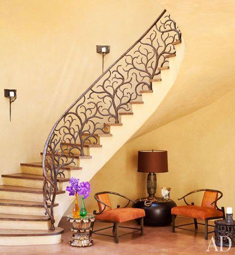 Disenos de escaleras interiores de herreria 24 curso de for Escaleras de adorno