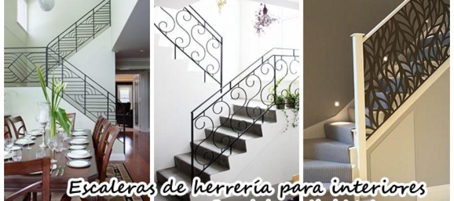 Diseños de escaleras interiores de herrería