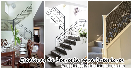 Dise os de escaleras interiores de herrer a decoracion for Ver escaleras de interiores de casas