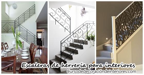 Dise os de escaleras interiores de herrer a decoracion for Fotos de escaleras de herreria