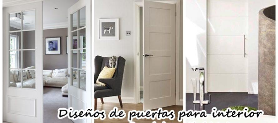 Dise os de puertas para interiores decoracion de for Disenos de puertas para interiores