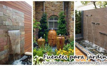 Hermosas fuentes de jardín