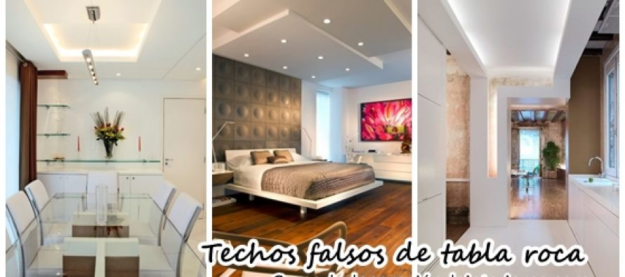 Ideas para decorar con techos falsos de tabla roca for Decoracion de techos interiores