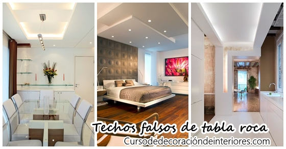 ideas para decorar con techos falsos de tabla roca