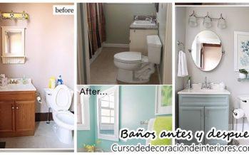 Ideas para remodelación de baños antes y después