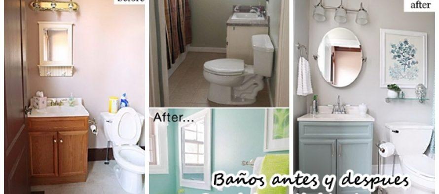 Ideas para remodelaci n de ba os antes y despu s for Remodelacion de apartamentos pequenos