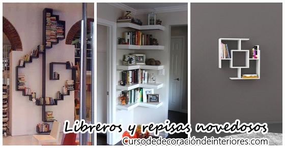Libreros y repisas con dise os novedosos decoracion de for Muebles para libros modernos