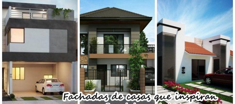 Magnificas fachadas de casas que inspiran decoracion de - Decoracion de fachadas ...