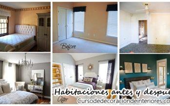 Opciones para decorar tu habitación antes y despues