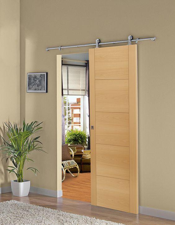 Puertas corredizas para decoraci n de interiores 30 Puertas corredizas seguras