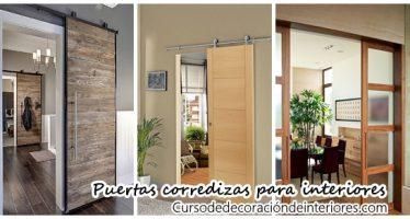 Puertas corredizas para decoración de interiores
