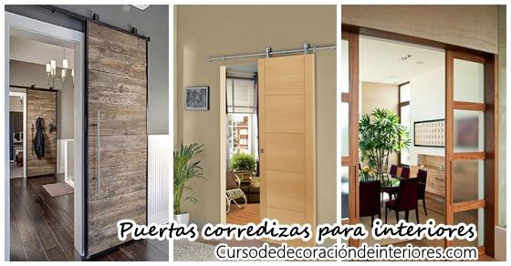 Puertas corredizas para decoraci n de interiores curso for Decoracion de puertas de interior