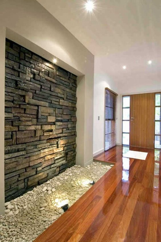 Revestimiento de piedra para interiores 10 decoracion de interiores interiorismo - Piedras para decoracion de interiores ...
