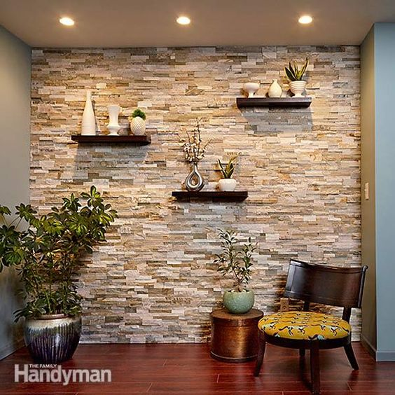 Revestimiento de piedra para interiores 15 Decoracion de