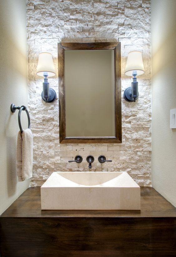 Revestimiento de piedra para interiores 16 decoracion - Pared interior de piedra ...